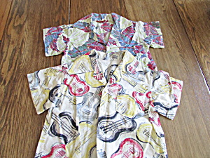 Vintage Child's Hawaiian And Guitar Shirts