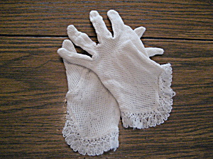 Vintage Child's Lace Gloves