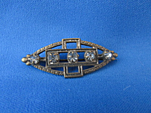 Victorian Five Stone Brooch