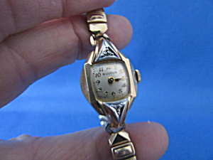 Bulova 10k Gold Fill Diamond Accent Watch With 10k Band