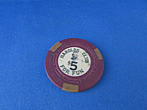 Harold's Club $5 Casino Chip (Image1)
