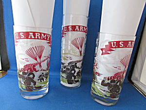 Three Federal US Army Drinking Glasses (Image1)