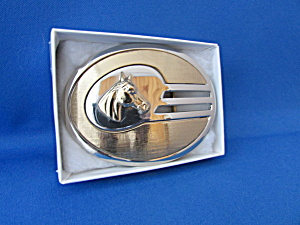 The Horseman Nickel Silver Belt Buckle