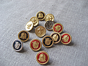 Group Of Metal Shield Buttons