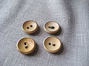Four Wooden Buttons