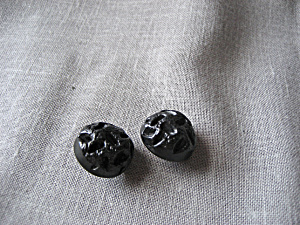 Two Black Round Buttons