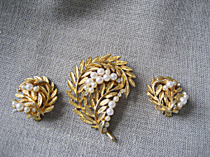 Faux Pearl Brooch Set (Image1)