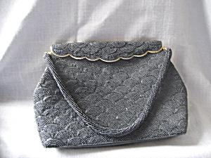 Black Beaded Evening Purse (Image1)
