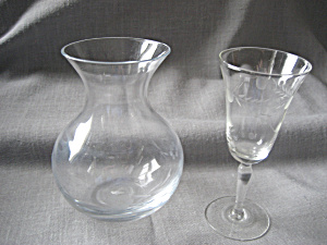 Princess House Vase And Cordial Glass