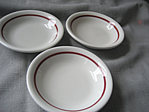 Three Restaurant Saucers (Image1)