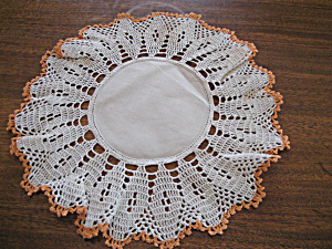 Peach Trim Doily