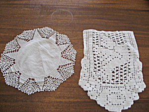 Set Of Two White Doilies