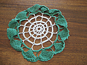 Green Trim Doily
