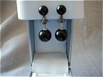Black Plastic Earrings from Japan