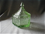 Chantilly Green Federal Pattern Candy Dish