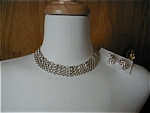 Avon Silver Chain Choker and Earrings