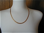 Click here to enlarge image and see more about item 1188: Gold Mesh Necklace
