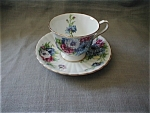 Click here to enlarge image and see more about item 1209WM: Clarence China Tea Cup and Saucer