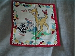 Vintage Child's Bambi Hadkerchief 1950