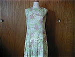 Green 70s Hip Hugger Dress