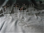 Silver Trimmed Stem Wine Glasses