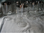 Silver Trimmed Water Glasses