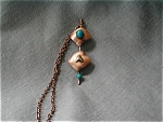 Click here to enlarge image and see more about item 1464: Copper Necklace with Faux Stones