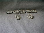 Sarah Coventry Silver Bracelet and Earrings