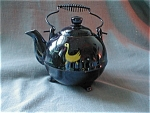 Brown Footed Tea Pot