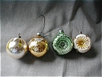Four Glass Ball Ornaments