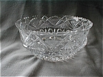 Click here to enlarge image and see more about item 1740: Cut Glass Crystal Bowl