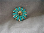 Painted Tin Flower Brooch
