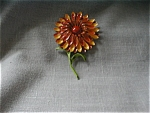 Tin Painted Flower Brooch