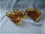 Amber Tiara Heart and Club Trays