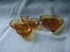 Click to view larger image of Amber Tiara Heart and Club Trays (Image3)