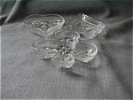 Clear Glass Tiara Club, Spade, Heart Trays