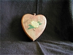Click here to enlarge image and see more about item 180: 1950 Wooden Heart Box