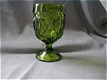 Click here to enlarge image and see more about item 2027: Moon And Stars Green Goblet