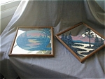 Pair of Hand Painted Mirrors