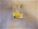 Lucite Flower Candle or Lipstick Holder