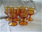 Click here to enlarge image and see more about item 2182: Kings Crown Stemmed Juice Glasses