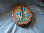 Tole Painted Wooden Box