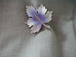 Purple Leaf Brooch
