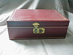 Click here to enlarge image and see more about item 2275: Burgandy 1960s Jewelry Box