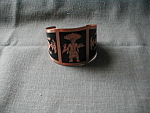 Copper Bracelet with Aztec Design