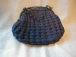 Blue Crocheted Gimp Purse