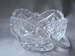 Click here to enlarge image and see more about item 2633: Cut Glass Basket