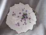 Purple Flower Leaf Candy Dish