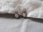 Rhinestone Pierce Earrings