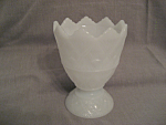 Click to view larger image of E.O. Brody Pedestal Milk Glass Vase (Image1)